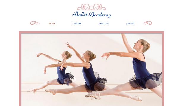 Ballet Studio Wix Template | Wix Creative Arts Template