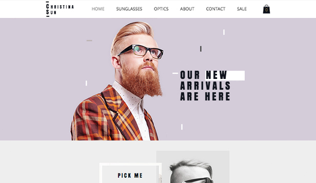 Eyewear Store Wix Template Wix Online Store Template - Wix ecommerce templates