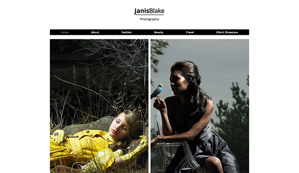 Fashion Photographer Wix Template | Wix Photography Template