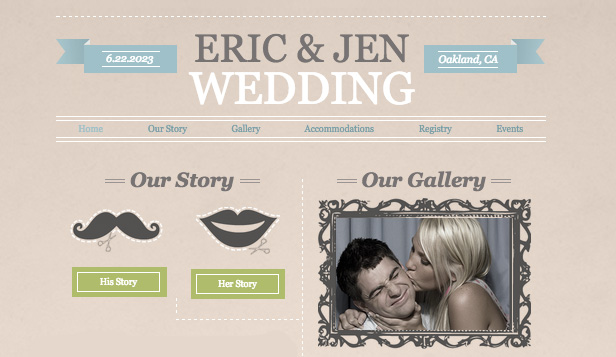 Wedding Announcement Wix Template  Wix Events Template