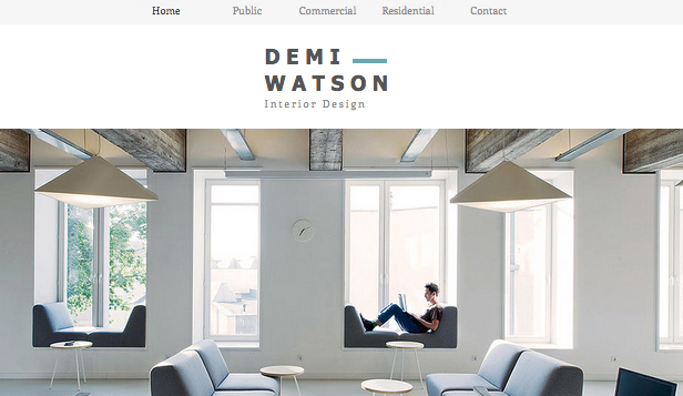 Interior design portfolio wix template wix portfolio for Free room design website