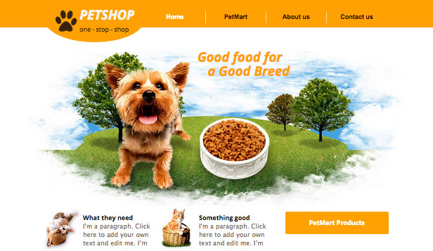 Pet Supplies Wix Template Wix Business Template