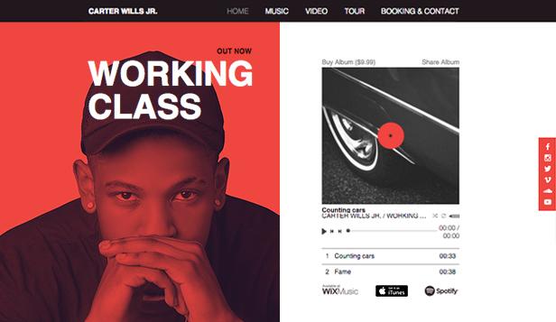 Rap Artist Wix Template | Wix Music Template