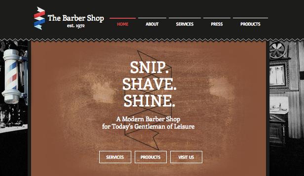 the barber wix template. Black Bedroom Furniture Sets. Home Design Ideas