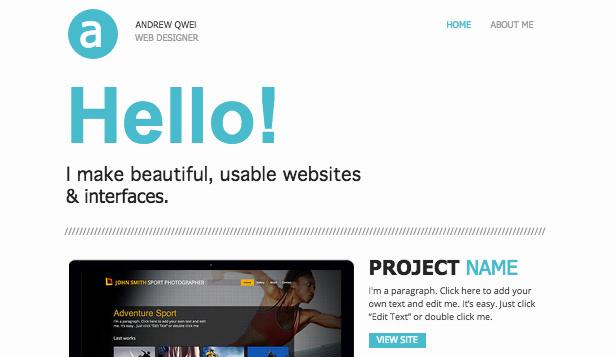 web portfolio wix template wix business template