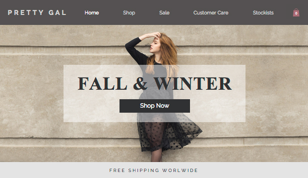 Women\'s Fashion Wix Template | Wix Online Store Template