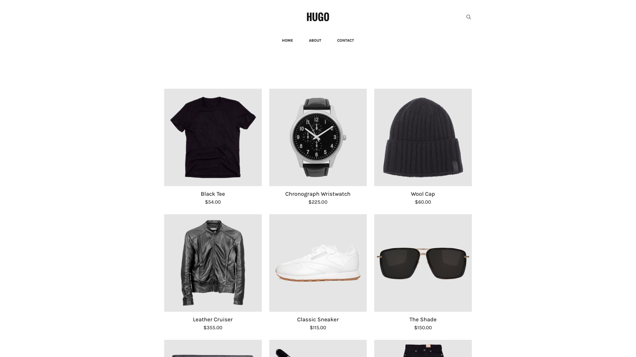 Hugo - CleanLines 2 Weebly eCommerce Template